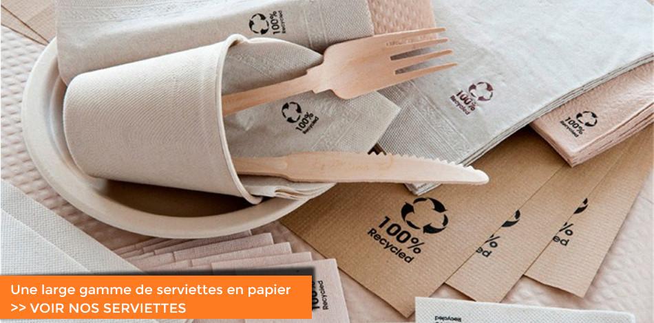 Une large gamme de serviettes en papier